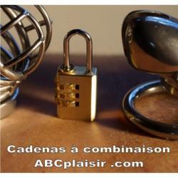 Cadenas à combinaison pour cage de chasteté SANS combinaison