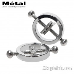 Pinces à sein écrases tétons métal