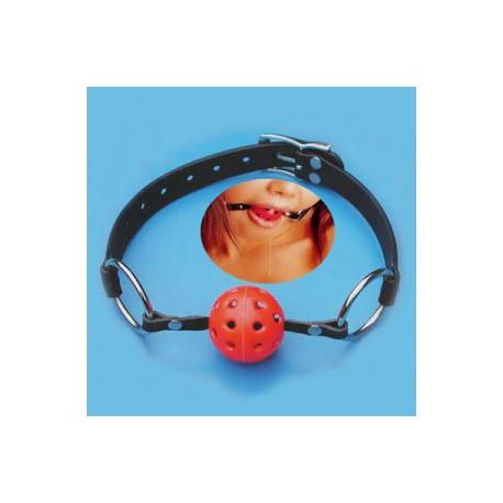 Bâillon boule percé pour vos bondages ou du selfbondage