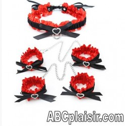 Ensemble Collier et bracelets BDSM 5 pièces