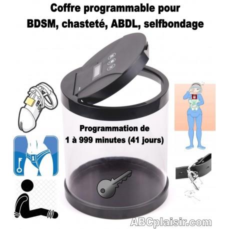 Coffre électronique BDSM ABDL ou chasteté