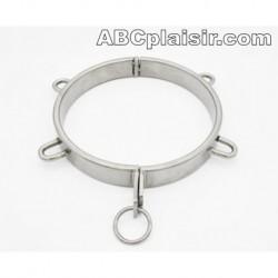 Collier de soumission BDSM métal