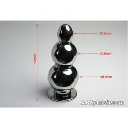 Plug 3 boules en métal ou rosebud d'enfer