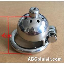 Cage de chasteté castrat plug d'urètre Ring 40mm