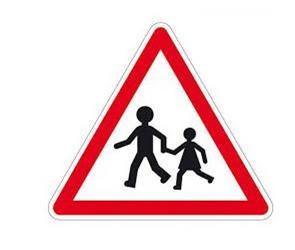 Image d'un panneau du code de la route représentant des enfants